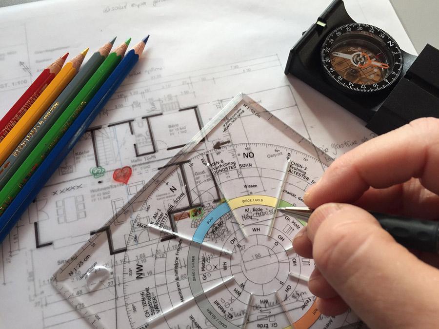 Berechnung eines Hausplanes mit Feng Shui