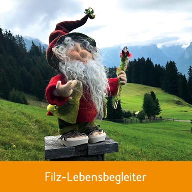 Hüaterzwerg aus Schafwolle ggefilzt von Silvia Adank, Seewis Dorf, Prättigau Davos